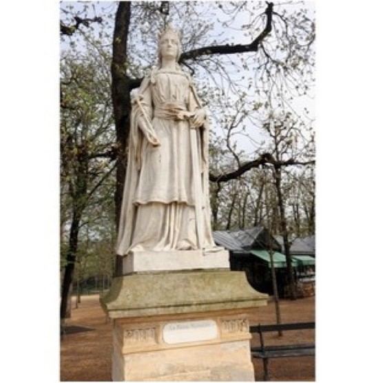 A statue of the English queen Matilda in Luxembourg Garden, Paris. (Photo by Waring Abbott/Getty Images)