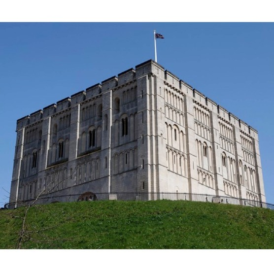 Norwich Castle dominates the city's skyline, as it would have done 900 years ago. More than 100 houses were razed to make way for this massive symbol of Norman power. (Photo By: Geography Photos/UIG via Getty Images)