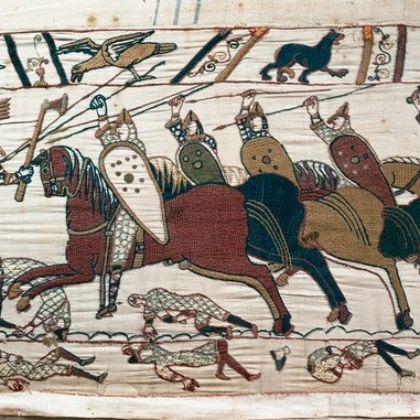 """The Bayeux Tapestry depicts scenes of the Norman conquest of England in 1066. To characterise the English response in 1066 as """"deliberately acquiescing"""" is a little hard on our 11th-century compatriots, says Professor George Garnett. (Photo by DeAgostini/Getty Images)"""
