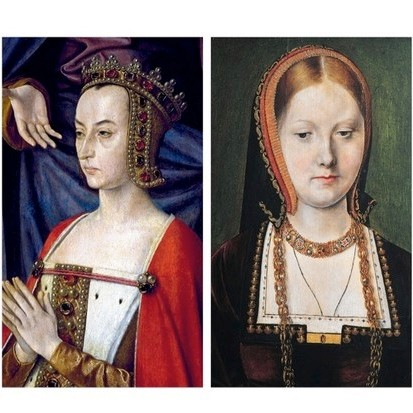 From left to right: French regent Anne de Beaujeu; and Catherine of Aragon. (Photos by Fine Art Images/Heritage Images/DeAgostini/Imagno/Getty Images)