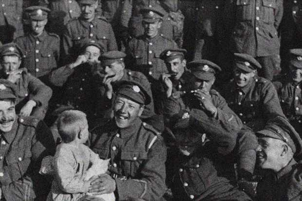 THEY SHALL NOT GROW OLD/ WingNut Films/ Peter Jackson. Original black and white film © IWM