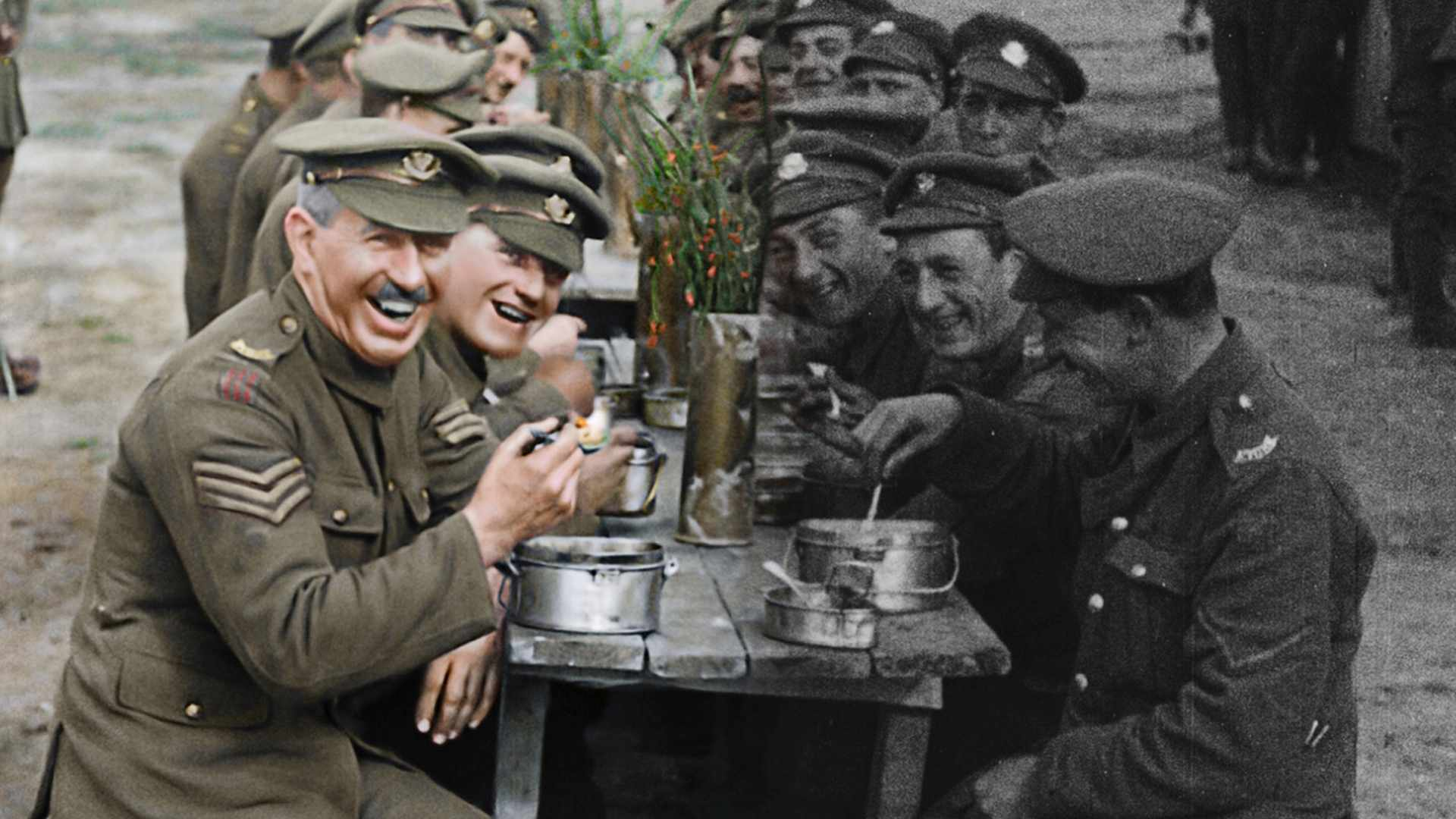 A scene from 'They Shall Not Grow Old', showing how film director Peter Jackson digitally remastered footage of the First World War. (Photo courtesy of THEY SHALL NOT GROW OLD/ WingNut Films/ Peter Jackson. Original black and white film © IWM)