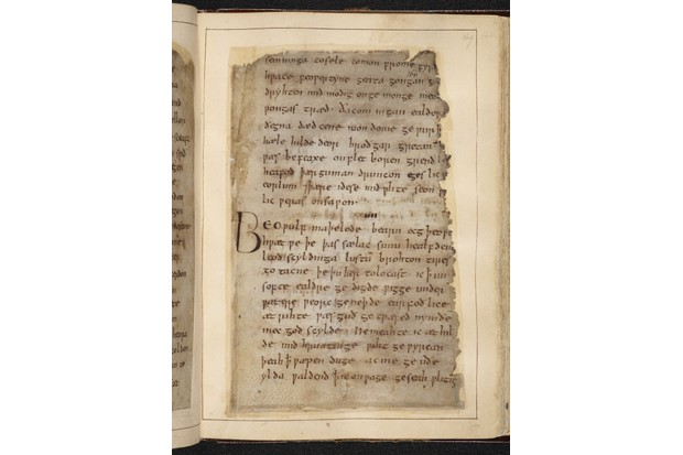 Four absolute masterpieces of Old English poetry are featured in the exhibition, including Beowulf. (Photo © British Library Board)