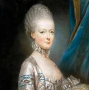A portrait of Marie Antoinette by artist Joseph Ducreux, c1769. (Credit: Fine Art Images/Heritage Images/Getty Images)