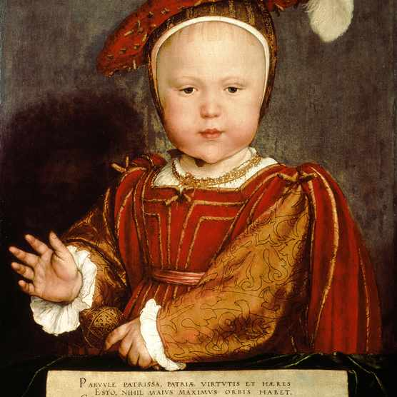 Hans Holbein the Younger's c1538 portrait shows the future Edward VI dressed lavishly in the kind of finery also favoured by his father. (Photo by Bridgeman)
