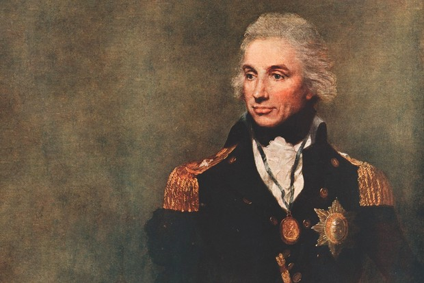 Lemuel F Abbott's famous 1797 portrait of Horatio Nelson. In 1805, the British naval hero promised to speak publicly against the abolition of slavery, but was denied the opportunity by his death at Trafalgar later that year. (Picture by Alamy)
