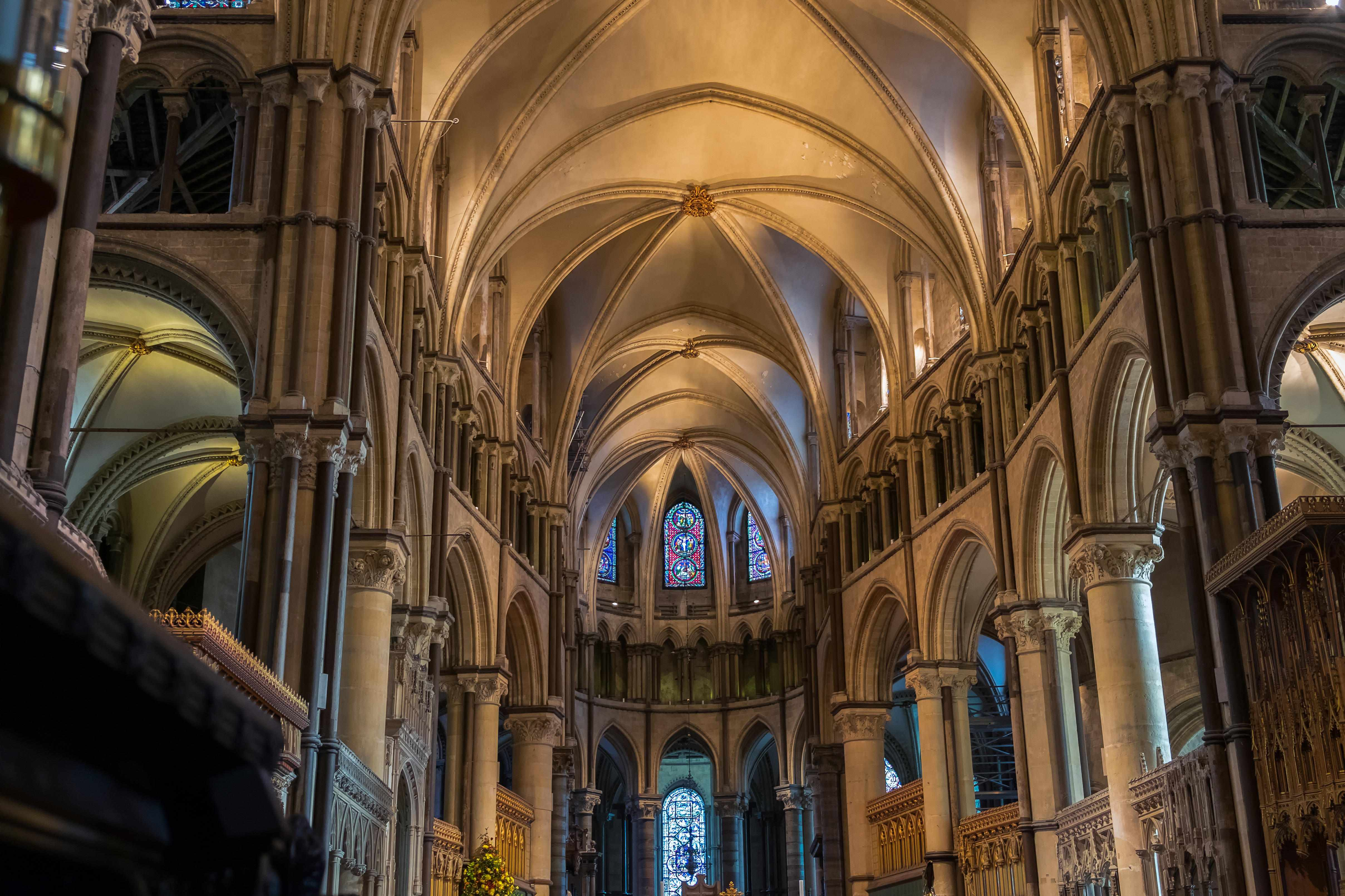 A view from the Choir of Canterbury Cathedral looking towards Trinity Chapel, which was built in the 12th century to house the remains of Thomas Becket. (Photo by Alamy)
