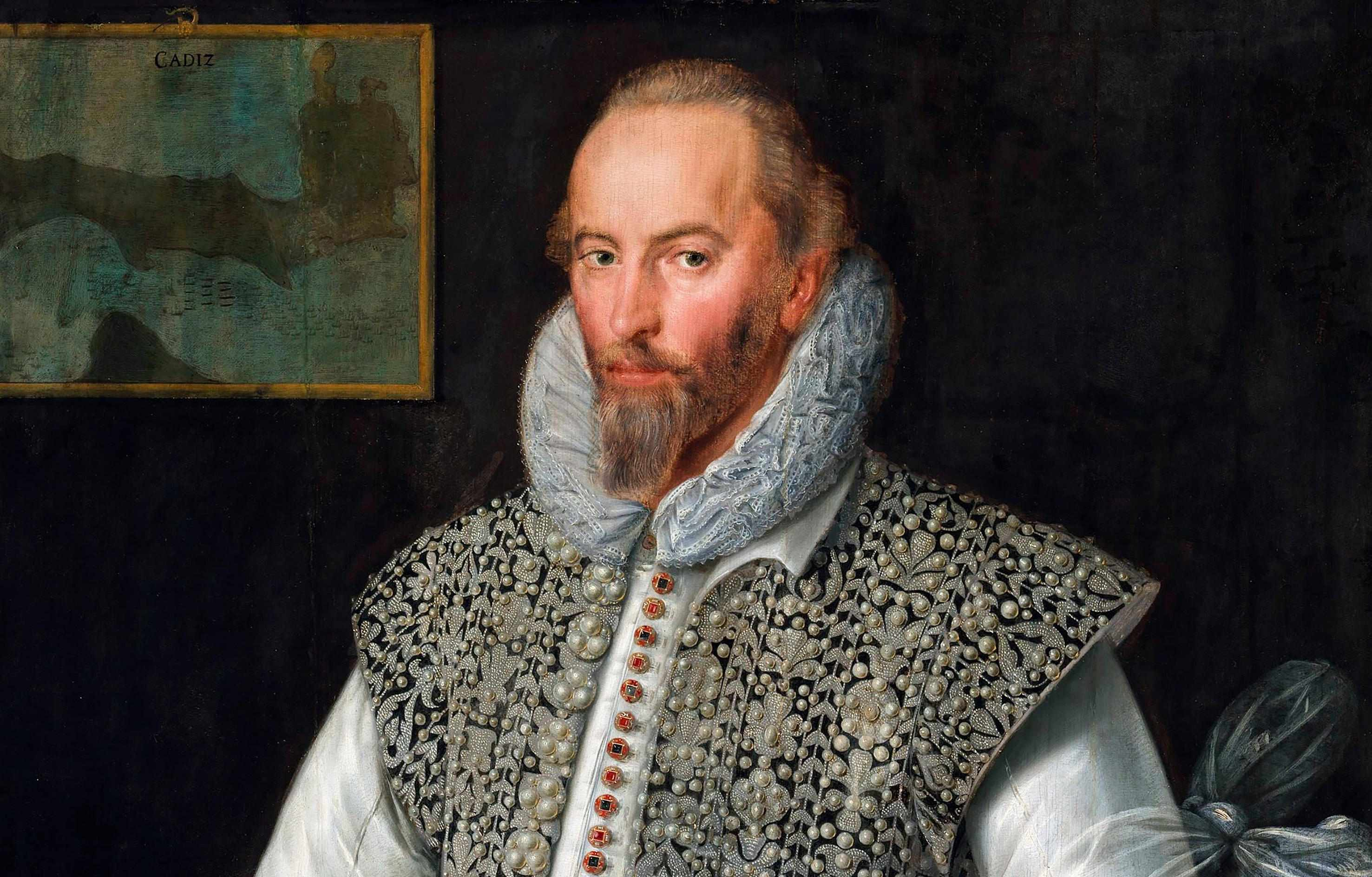 Sir Walter Ralegh (c1554–1618, shown here in a painting attributed to William Segar) is often remembered as a favourite of Elizabeth I and an adventurer, yet he was also one of the most influential political philosophers of his era. (Photo by Alamy)
