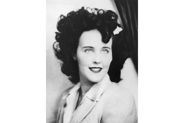 Headshot portrait of Elizabeth Short (1924–1947), known as 'the Black Dahlia,' an aspiring American actress and murder victim. Short became known as Black Dahlia after she was found murdered, her body naked and severed in two, in a vacant lot in Hollywood, California. (Photo by Hulton Archive/Getty Images)