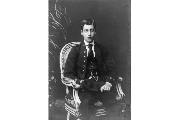 Prince Albert Victor, or 'Eddy', photographed c1880. (Photo by W. & D. Downey/Getty Images)