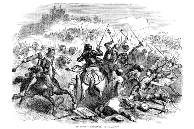 A 19th-century illustration of the battle of Bannockburn, June 1314. From Cassell's Illustrated History of England. (Photo by The Print Collector/Print Collector/Getty Images)