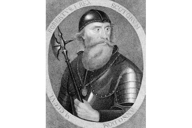 An 18th-century depiction of Robert the Bruce, Scottish king from 1306–1329. (Photo by The Print Collector/Print Collector/Getty Images)