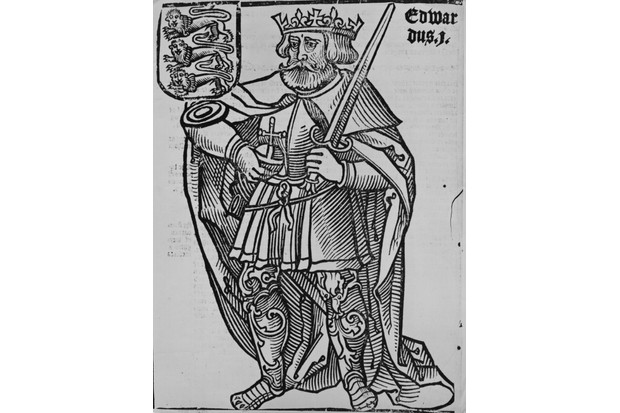 An engraving of 13th-century king of England Edward I, who was known as the 'Hammer of the Scots'. (Photo by Hulton Archive/Getty Images)