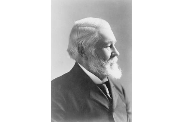 Richard Gatling, inventor of the Gatling gun. (Photo by Bettmann via Getty Images)