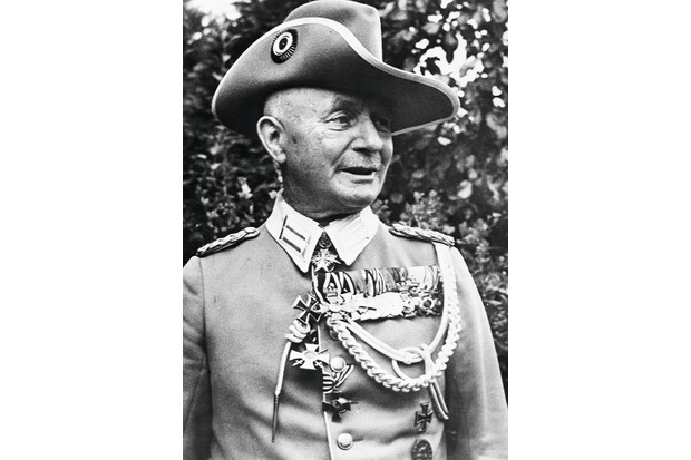 General Paul von Lettow-Vorbeck, leader of the German east African force, was the last German commander to surrender in November 1918. (Photo by Getty Images)