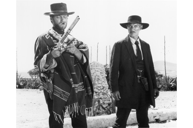 American actors Clint Eastwood and Lee Van Cleef star in the Sergio Leone western 'The Good, the Bad and the Ugly', 1966. (Photo by Silver Screen Collection/Hulton Archive/Getty Images)