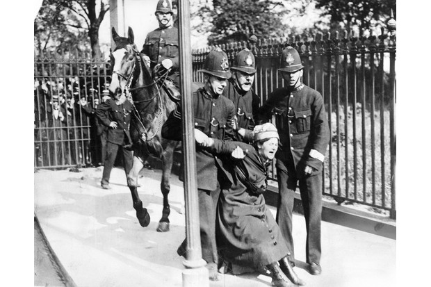 c1901, a woman campaigning for the vote is restrained by policemen. The First World War saw a huge advance in the status of women, which the pre-war Suffragettes had never achieved. (Photo by SSPL/Getty Images)