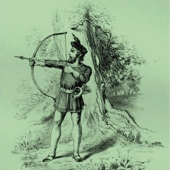 A depiction of Robin Hood, the heroic archer in English folklore who supposedly robbed the rich and gave to the poor. (Photo by Culture Club/Getty Images)