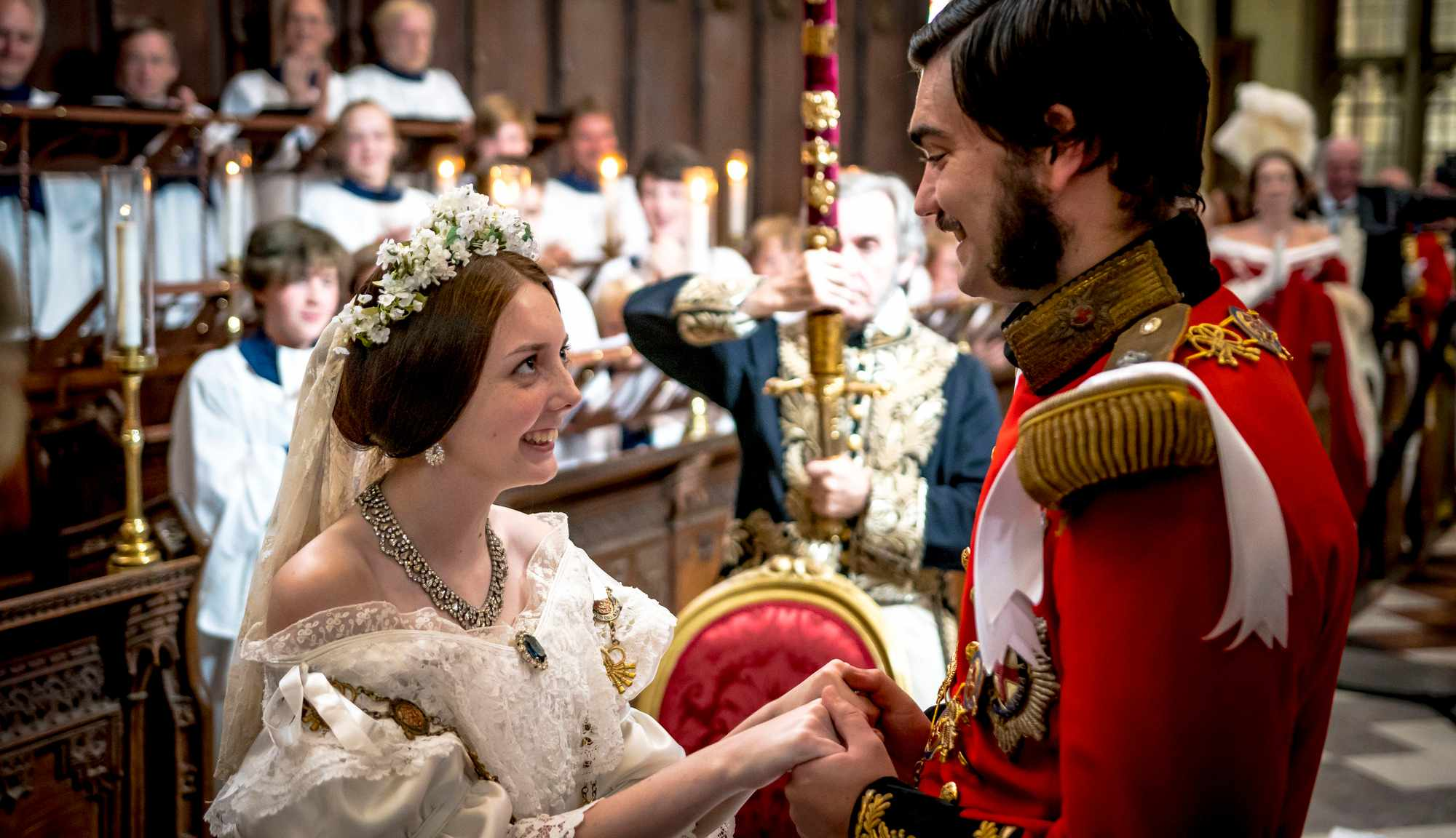 In December 2018, the BBC's 'Victoria and Albert: The Royal Wedding' will restage the wedding of Queen Victoria and her beloved Prince Albert. (Image Credit: BBC)