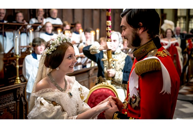 A still from the BBC's recreation of Victoria and Albert's wedding. 'Victoria and Albert: The Royal Wedding' first aired in December 2018. (Image Credit: BBC)