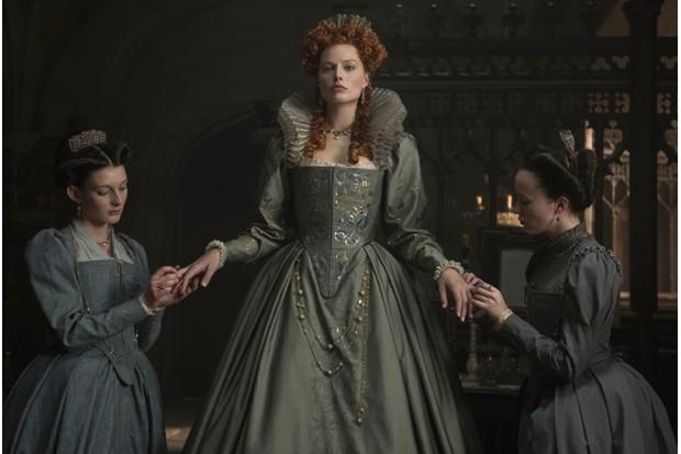 Margot Robbie as Elizabeth I in 2018 film, 'Mary Queen of Scots'. (© FOCUS FEATURES LLC 2018)