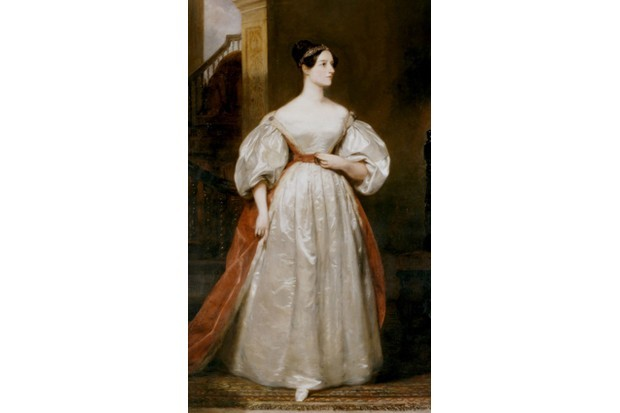 An 1836 portrait of Ada Lovelace, painted by Margaret Sarah Carpenter. (Photo by Getty Images)