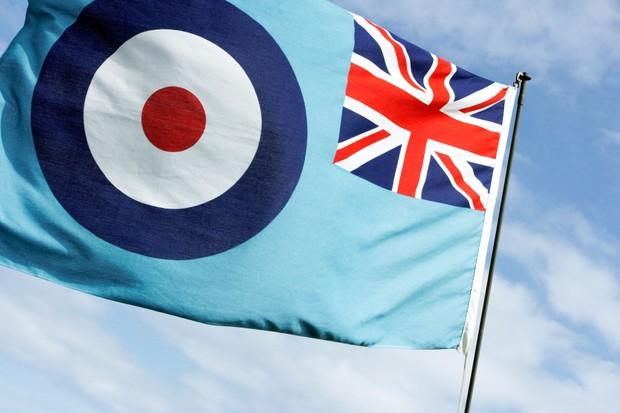 An RAF ensign. (Ian Hainsworth / Alamy Stock Photo)