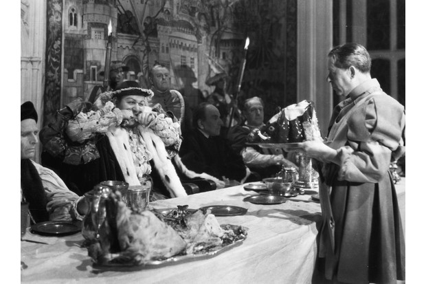 Henry VIII is the first known English king to have eaten turkey. Pictured is Charles Laughton in the title role of 'The Private Life of Henry VIII', 1933. (Photo by Alamy)