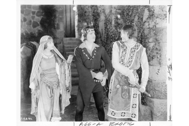 Enid Bennett, Douglas Fairbanks and Sam De Grasse in a scene from the film 'Robin Hood', 1922. (Photo by United Artists/Getty Images)