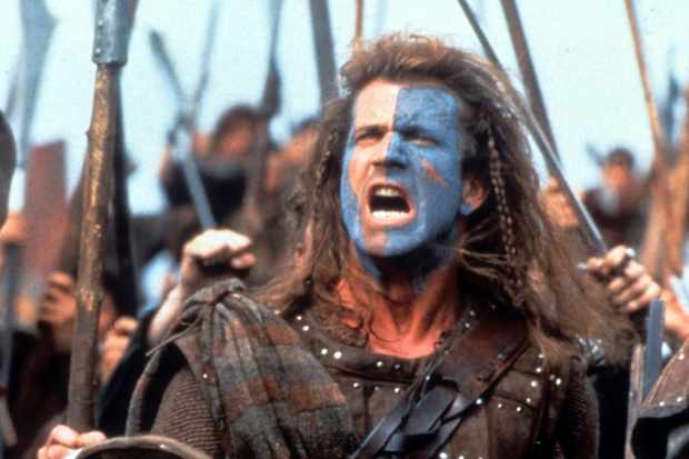 Mel Gibson in a scene from the film 'Braveheart'