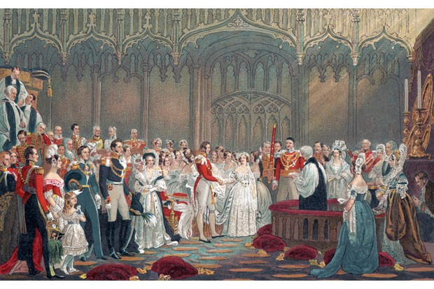 The wedding of Queen Victoria and Prince Albert in 1840. (Photo by Culture Club/Getty Images)