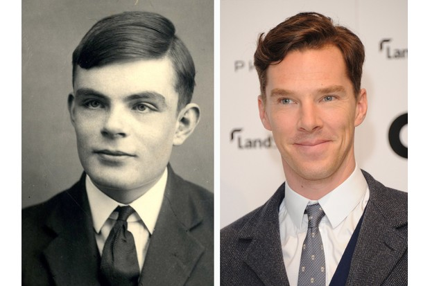 Alan Turing (left) is played by actor Benedict Cumberbatch in the film 'The Imitation Game', directed by Morten Tyldum. (Photo by Fine Art Images/Heritage Images/Stuart C Wilson/Getty Images)