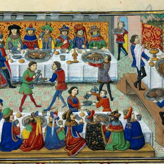 A 15th-century miniature from 'La Vraye Histoire du Bon Roy Alixandre'. (Photo by Leemage/Corbis via Getty Images)