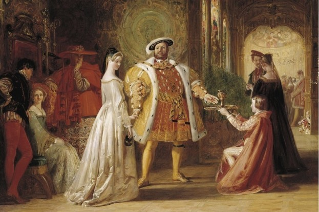 A 19th-century depiction of the first meeting of Henry VIII and Anne Boleyn. (Photo by Fine Art Images/Heritage Images/Getty Images)