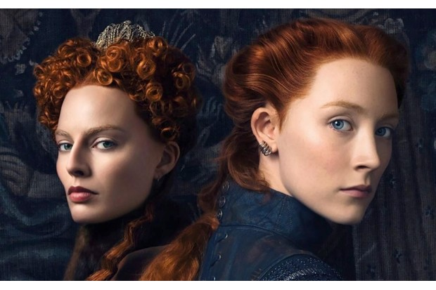 The British poster for 'Mary, Queen of Scots' (2018). Margot Robbie as Queen Elizabeth I and Saoirse Ronan as Mary Stuart. (© Focus Features / courtesy Everett Collection)