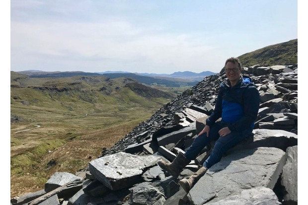 Will Millard at the Cwmorthin slate quarry. (Photo by BBC Wales)