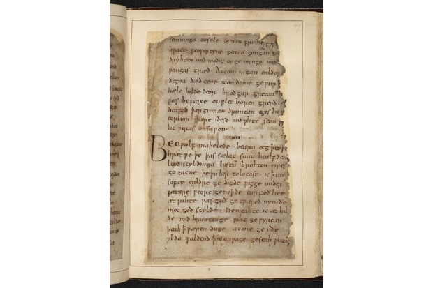Beowulf. (Photo by British Library Board)