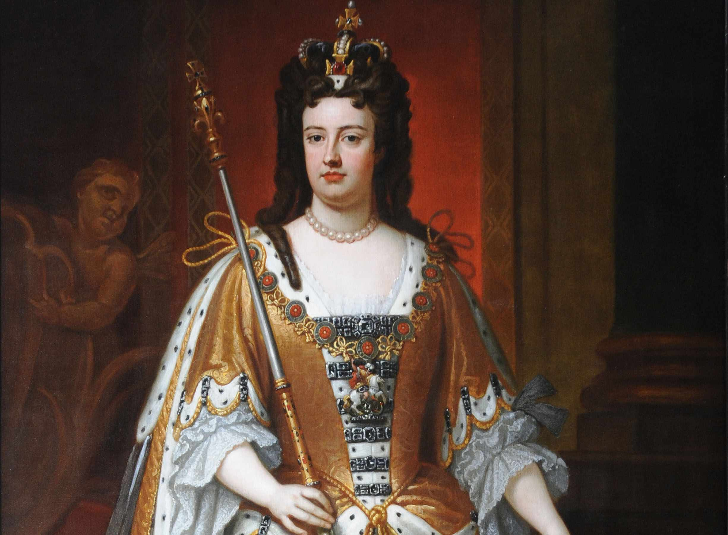 Queen Anne, based on a work by Sir Godfrey Kneller, c1702–10. Anne's reign saw women take centre stage in fierce political debates. (Photo by Bridgeman/National Trust Photographic Library)