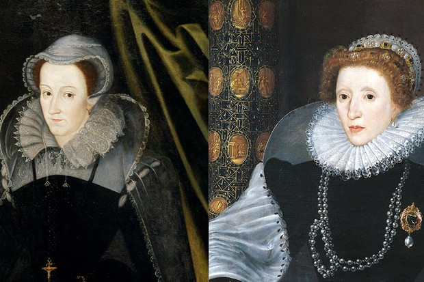 The daughter and great-niece of Henry VIII respectively, Elizabeth and Mary, Queen of Scots didn't feel strong family ties when it came to their relationship. (Photo by Getty Images)