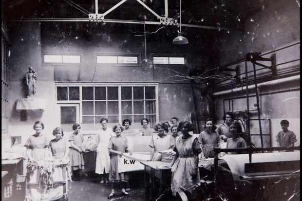 History graduate Steve Humphries' 1998 film explores the stories of women who worked in Magdalene laundries such as St Mary's Training School, Dublin (pictured here in 1935–38). (Photo by BNPS)