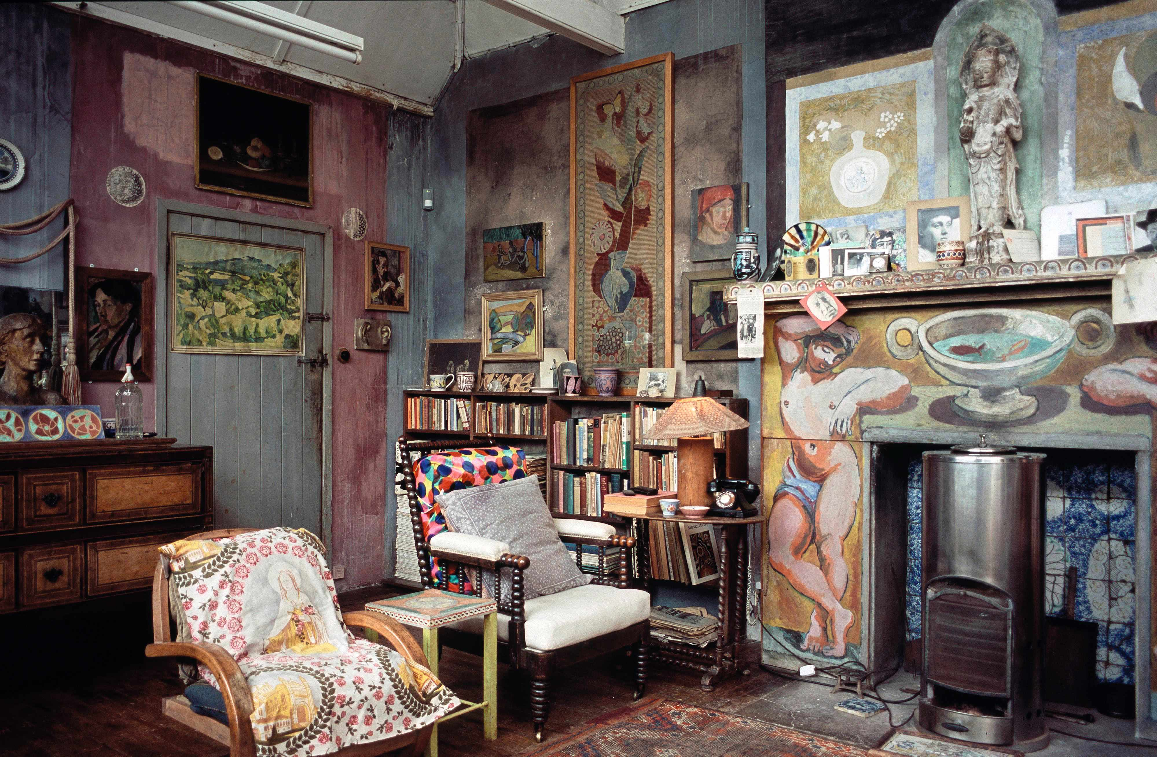 Duncan Grant's studio at Charleston. Despite its lack of creature comforts, the East Sussex farmhouse became the weekend hub of the Bloomsbury set. (Photo by Charleston House/Tony Tree)