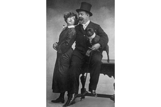 A late 19th-century studio portrait of Colette and Willy. (Photo by Hulton Archive/Getty Images)