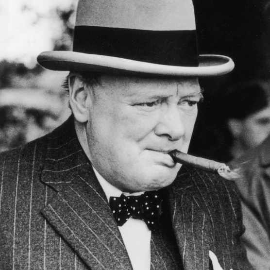 1939:  Winston Churchill (1874 - 1965), British Statesman and Prime Minister for two terms (1940 - 1945 and 1951 - 1955).  (Photo by Central Press/Hulton Archive/Getty Images)