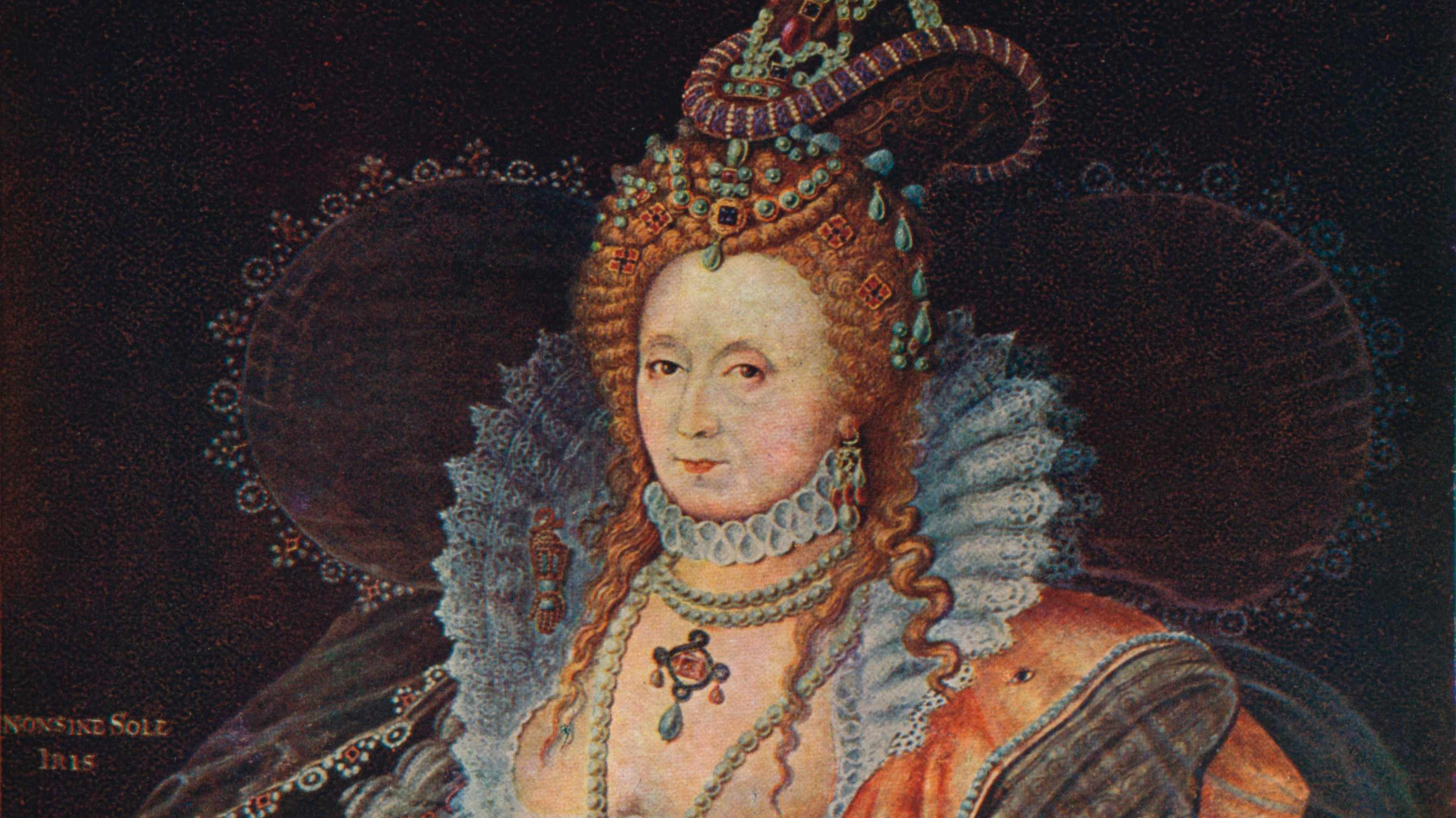 A 19th-century portrait of Queen Elizabeth I. (Photo by Print Collector/Getty Images)