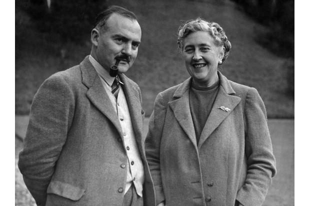Agatha Christie with second husband, Max Mallowan