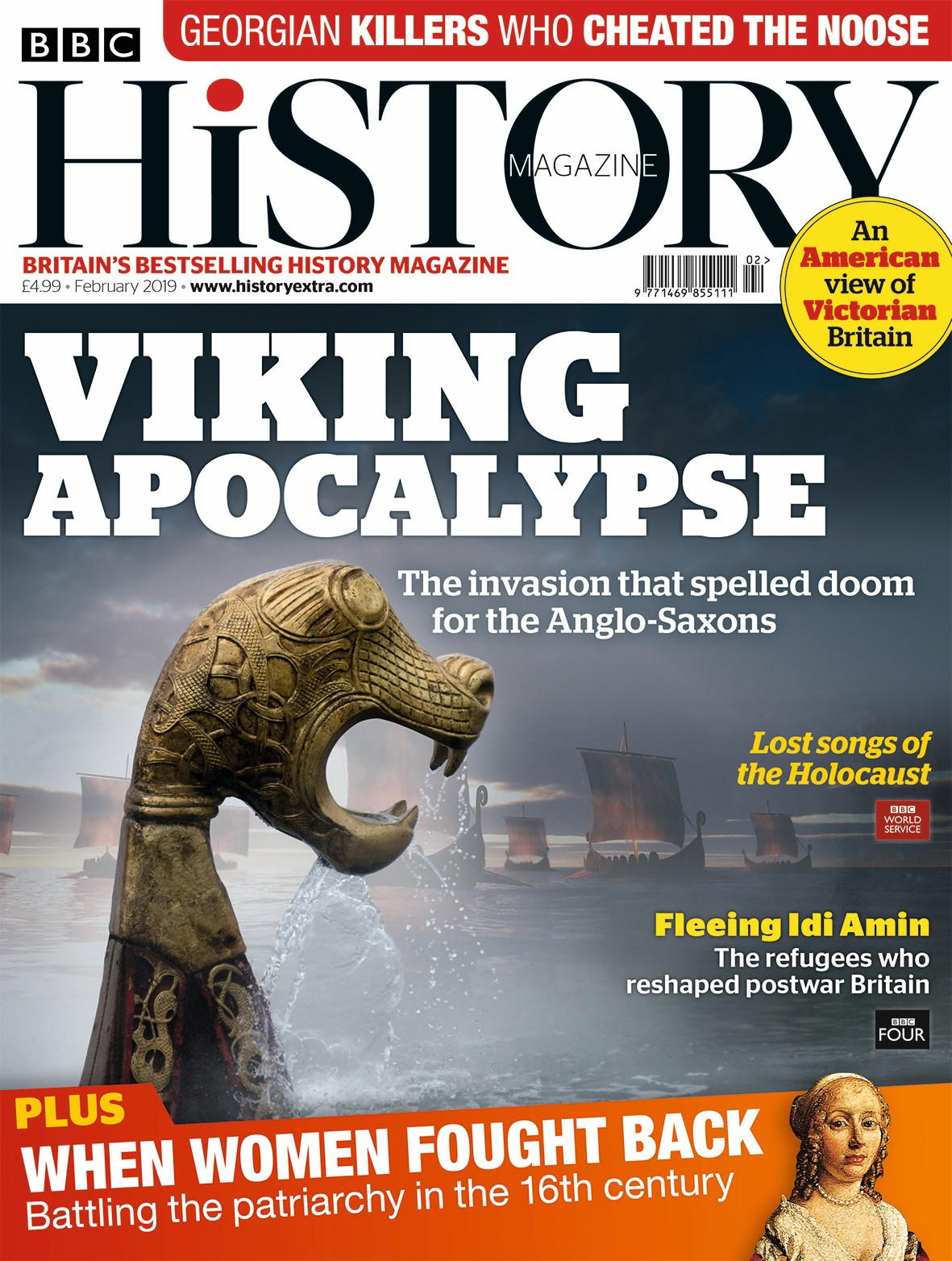 The February 2019 issue of BBC History Magazine