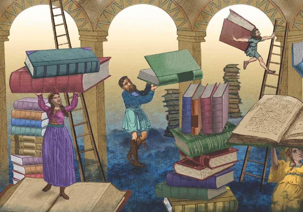 Michael Wood on Anglo-Saxon manuscripts. (Illustration by Femke de Jong for BBC History Magazine)