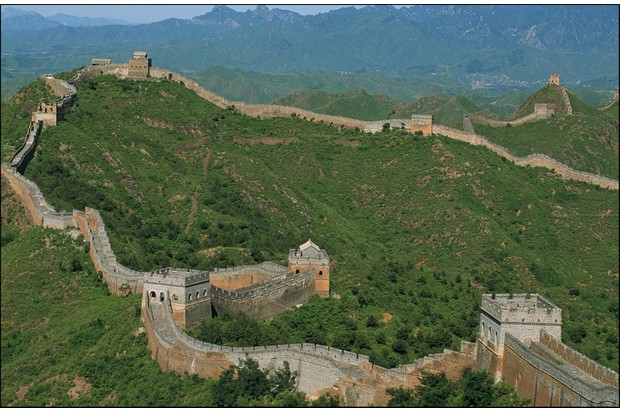 The construction of the Long Wall in China marked the beginning of an age of great walls that lasted more than 1,000 years from the third century BC to the 11th century AD. (Photo by Jean-Luc PETIT/Gamma-Rapho via Getty Images)