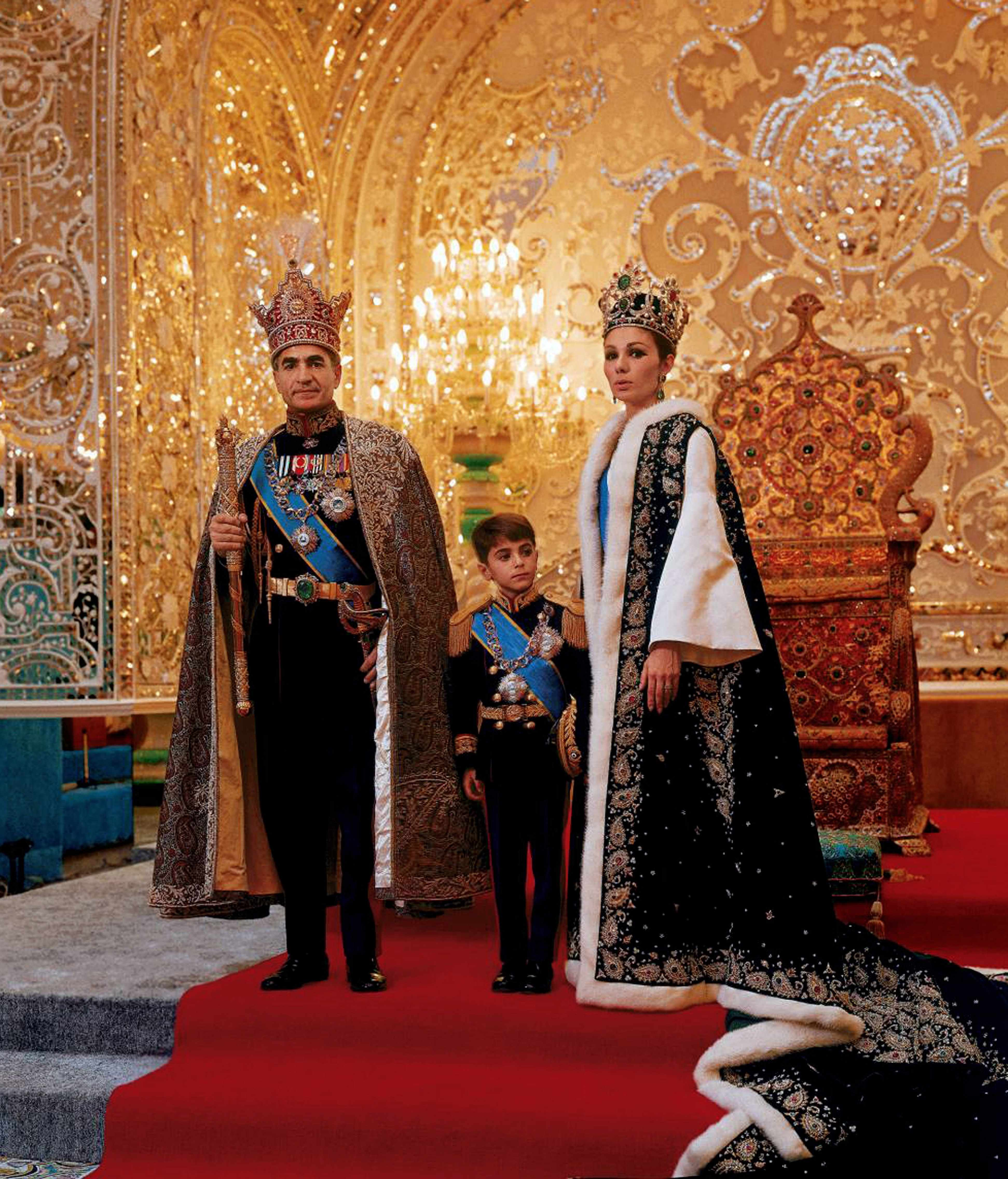 Mohammad Reza Shah Pahlavi, last Shah of Iran, pictured in 1967 with his third wife, Farah Diba, and their son Reza. His attempted reforms during his final years in power alienated many of his nation's people. (Photo by Universal History Archive/Getty Images)