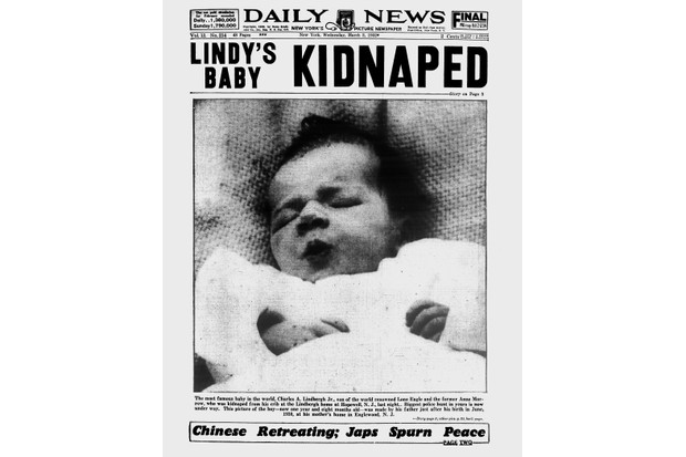 Front page of Daily News, 2 March 1932. (Photo By: /NY Daily News via Getty Images)